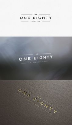 Upscale Restaurant Logo Needed for The One Eighty. Blend of modern