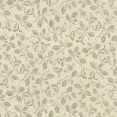 This is Modas French General Joyeux Noel Pearl Rouche 13715-17. This fabric has a pattern of faded green vines on a creamy pearl background. Beautiful French General fabric! Original price: $10.99. Now on SALE for $9.49.  Fabric is 44 to 45 wide.  High Quality, 100 % Cotton Fabric. Smoke free environment.  Tax collection rate: 7.975% (Missouri only).  Sold in 1 yard increments. Multiple yards will be cut as one piece.  Any questions? Please feel free to contact the us.