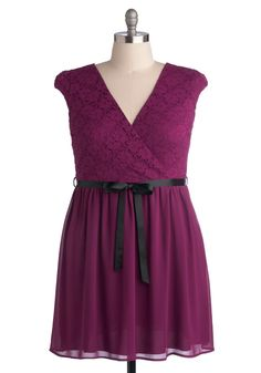 Champagne at Midnight Dress in Fuchsia   ModCloth.com - sizes 1X to 3X