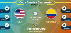 Who will win in #Colombia VS #USA ?  Share at http://pgur.in/jbh9um  #CA2016 #COLvUSA #Football