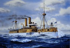 """USS Maine (the USS Maine exploded in Havana Harbor in 1898)  """"Remember the Maine! To Hell with Spain!"""""""