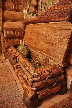 woodworking wooden box Selecting The Right Bonsai Pots Is Very Important Article Body: As with all t Rustic Log Furniture, Cabin Furniture, Diy Furniture, Furniture Outlet, Furniture Design, Wood Chest, Wood Boxes, Barn Wood, Woodworking Plans