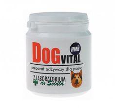 Dog Vital 150 g. DogVital z Laboratorium dr Seidla to odżywczy preparat dla psów przeciwdziałający zanikowi mięśni towarzyszącemu starości, przez co poprawia sprawność motoryczną i opóźnia procesy starzenia. Poprawia kondycję u psów aktywnych, zwiększa muskulaturę u psów wystawowych. Dodatkowo, przywraca sprawność u psów seniorów i opóźnia procesy starzenia. Przyspiesza powrót do zdrowia i wzmacnia mięśnie u psów cierpiących na miopatie, dyskopatie i dysplazje.