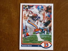 Gaston Green Denver Broncos Running Back Card No. 551 (FB551) 1991 Upper Deck Football Card - for sale at Wenzel Thrifty Nickel ecrater store