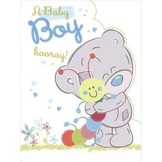 New Baby Boy Large Tiny Tatty Teddy Me to You Bear Card £3.59