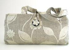 borsa moderna, borsa grigia, floreale piccolo sacchetto di tote, pochette in tessuto, borsa a tracolla con chiusura a cerniera