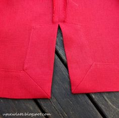 Up Sew Late: How to Make Mitred Self-Faced Vents