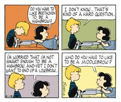 Intellectuals make my ass twitch. Peanuts Cartoon, Peanuts Snoopy, You Are My Rock, Snoopy Birthday, Snoopy Comics, Hard Questions, Charlie Brown And Snoopy, Funny Cartoons, Comic Strips