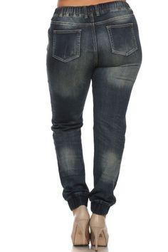 women's plus size high waist denim cargo pants #plussizepants #plussizefashion   #plussizejeans #plussizedenim