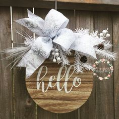 A personal favorite from my Etsy shop https://www.etsy.com/listing/569589087/hello-wooden-sign-holiday-ornament-wood