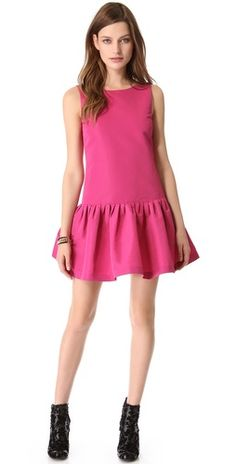 RED Valentino Drop Waist Faille Dress