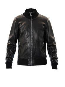 4c638f25f8f Gucci Leather Bomber Jacket - Lyst Lambskin Leather Jacket