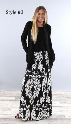Best Selling Maxi Skirts - Plus Sizing Available 4 Long Skirt Outfits For Summer, Black Skirt Outfits, Skirt Outfits Modest, Work Outfits, The Dress, Dress Skirt, Maxi Skirts, Long Skirts, Rock