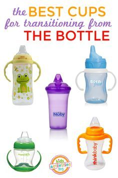 The best cups to use when you're weaning baby from the bottle. Weaning From Bottle, Baby Led Weaning, Weaning Toddler, Thing 1, Everything Baby, Baby Time, Baby Hacks, Baby Bottles, Kids And Parenting