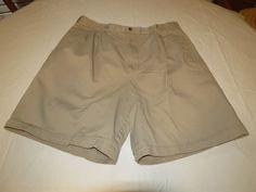 Men's Tommy Hilfiger Golf 36 pleated shorts tan khaki walk casual EUC @ #TommyHilfigergolf #shorts