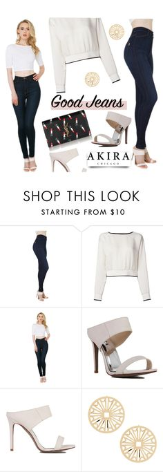 """Akira"" by mada-malureanu ❤ liked on Polyvore featuring Akira, Theory, Akira Black Label, Yves Saint Laurent, YSL, shopakira and falldenimtrend"