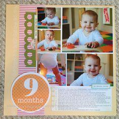 Scrapbook layout, 4 Photos, 1 page