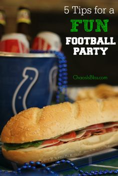 Great ideas for a fun Football party, even tips for entertaining the kids! #OldWorldStyleOM ChaosIsBliss.com