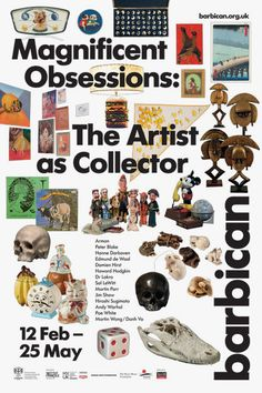 Magnificent Obsessions: The Artist as Collector Catalogue – Barbican Shop Graphic Design Layouts, Graphic Design Posters, Graphic Design Inspiration, Typography Design, Layout Design, Branding Design, Poster Designs, Poster Layout, Print Layout