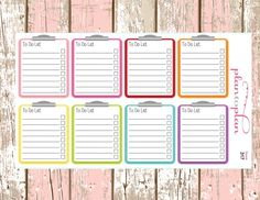 317~~8 Task To Do List Clipboard  Planner Stickers. by PlanToPlan on Etsy