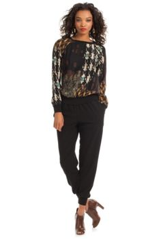 Trina Turk  Hazel Top very similar to our dressed up sweat shirt.  this is 278.00 CAbi's is 74.00
