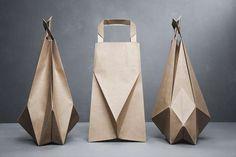 Ilvy Jacobs' Moden Paper Bag series #paper #packaging #design #geometric @Courtney Baker LaLa + form
