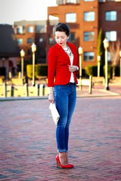 casual red - red reticule