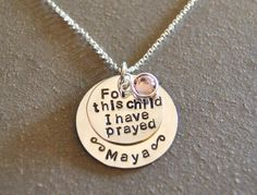 I thought this necklace was neat.  The Bible verse mentioned is one of the verses that sustained me during our wait for each child.