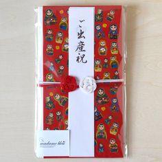 マトリョーシカの祝儀袋(赤)/出産祝い・結婚祝いに最適!