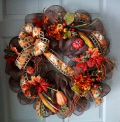 Fall Mesh Wreath ...so pretty!