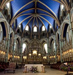 Notre-Dame Cathedral Basilica is an ecclesiastic basilica in Ottawa . Canada Trip, Canada Travel, Little Architects, Cathedral Basilica, Interior Architecture, Interior Design, Unusual Houses, Iglesias, To Infinity And Beyond