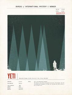 Limited Edition Yeti Species Large Print. $45.00, via Etsy.