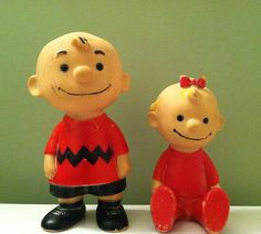 Early 1960s Charlie Brown & Sally Figures