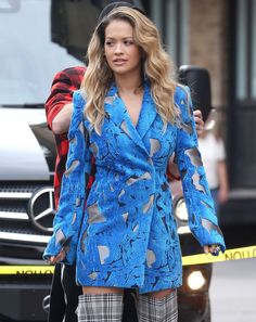 Rita Ora Vibrant Style Filming a Music Video NYC