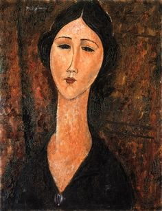 Amedeo Modigliani - Woman in Black Dress, 1919