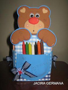 Oficina de Criatividade: Caixinha com urso con molde