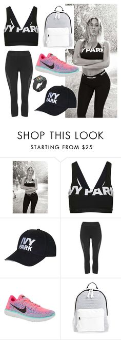 """ivy park fashion"" by talipayne ❤ liked on Polyvore featuring Topshop, NIKE, Poverty Flats and Speck"