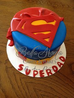 Superman, superdad Father's Day Cake