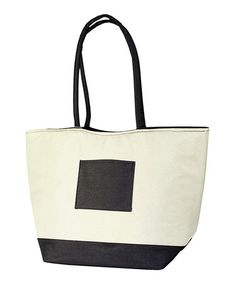 Take a look at this Black & White Pocket Cooler Bag by The Royal Standard on #zulily today! $14.99, usually 25.00