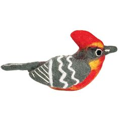 Wild Woolies Felt Bird Garden Ornament - Vermillion Flycatcher - Wild Woolies (G)