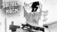 Double Rock: HUF: A few members of the HUF squad spent the night at D-Rock, escaping the rain and testing out a… #Skatevideos #double #rock