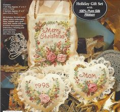 90s Merry Christmas Silk Ribbon Embroidery Kit by CloesCloset