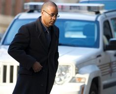 Caesar Goodson arrives at the courthouse for the first day of jury selection in Baltimore, Maryland, January 11, 2016. REUTERS/Jose Luis Magana