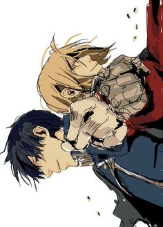 Roy Mustang and Edward Elric