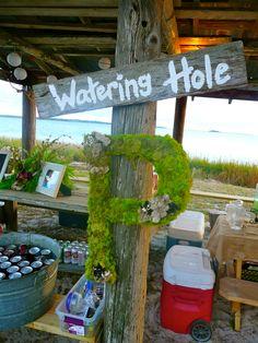 Rustic Outdoor Wedding Monogram