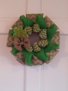Burlap Wreath, St. Patricks Day