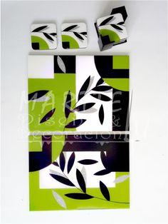 Marttelu diseño y decoracion decoracion Arte Country, Fused Glass, Handicraft, Abstract, Artwork, Inspiration, Ornaments, Wood, Proposals