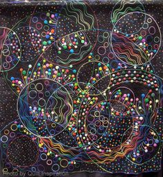 """Let's Go Party, 77 x 78"""", by Keiko Ike, Kochi-city, Japan.  2013 PIQF, photo by Quilt Inspiration"""
