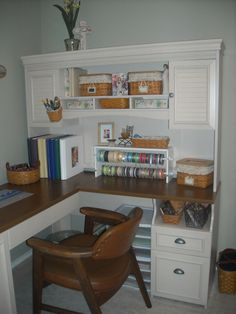 I really like this corner desk for crafting and organizing!