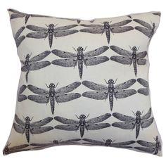 Nkan Dragonfly Throw Pillow